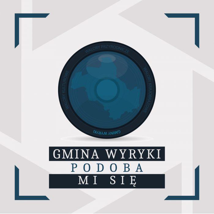 """Logo Konkursu fotograficznego """"Gmina Wyryki. Jakiej nie znacie"""""""