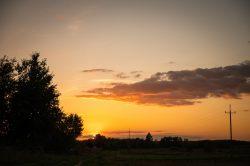 Maja Adamczyk - Zachód słońca nad Wyrykami