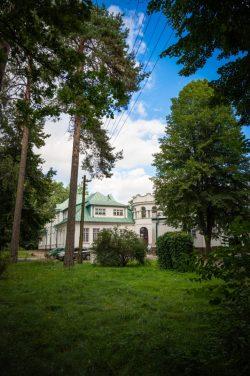 Monika Adamczyk - Szpital w Adampolu - widok od strony parku