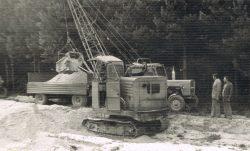 Budowa drogi czynem partyjnym z PGR Kaplonosy do Kaplonos-Kolonii - 1979 r.