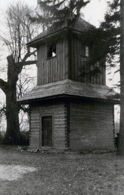Drewniana dzwonnica przy Cerkwi w Horostycie - 1963 r.