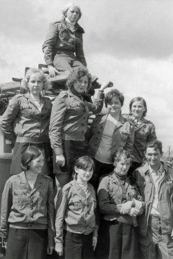 Drużyna kobieca jednostki OSP Wyryki - ok 1979 r.