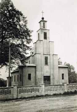 Kościół w Lubieniu - 1950-1960 r.