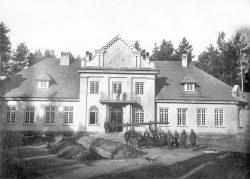 Pożar pałacu w Adampolu - 1929 r.