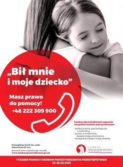 Plakat Tydzień Pomocy Osobom Pokrzywdzonym Przestępstwem 2021