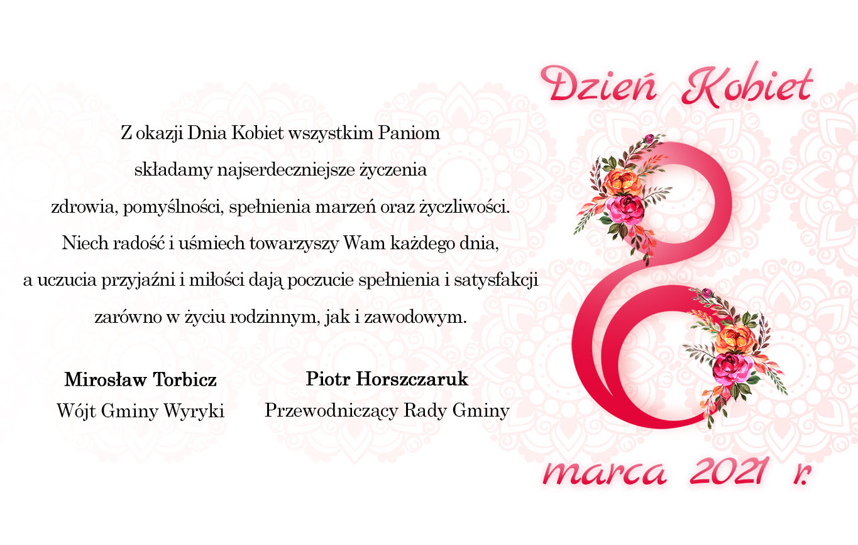 Życzenia Dzień Kobiet 2021