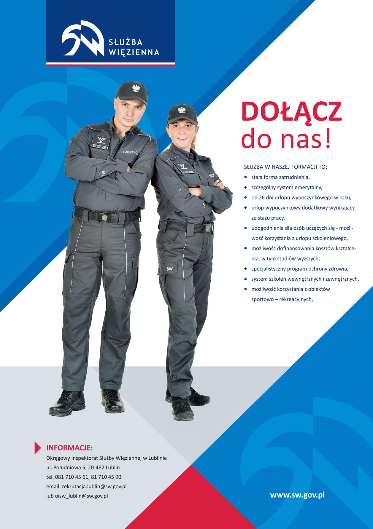 Plakat SW - nabór do służby więziennej