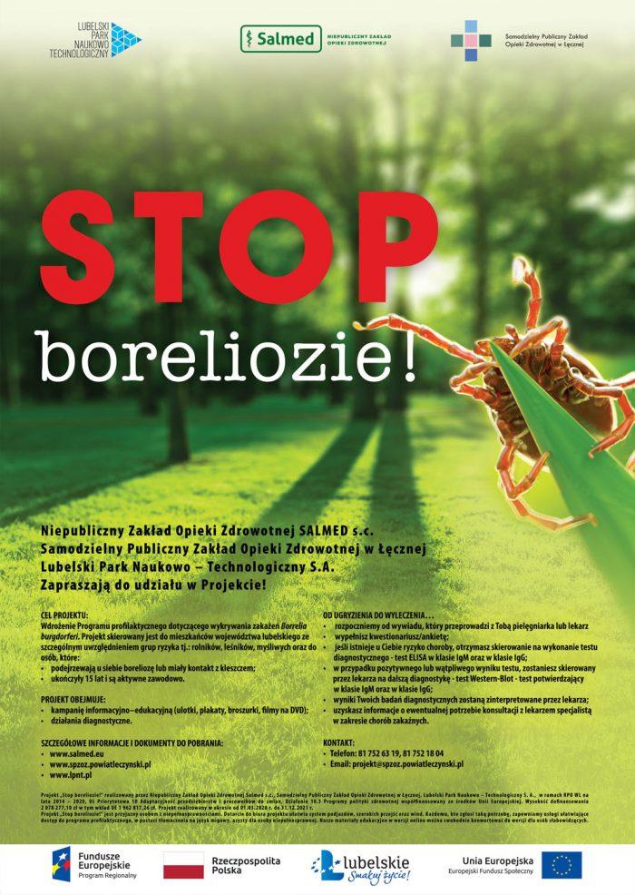 Plakat Stop boreliozie!
