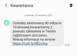 Uwaga na fałszywe SMS-y o kwarantannie - ostrzeżenie Głównego Inspektora Sanitarnego