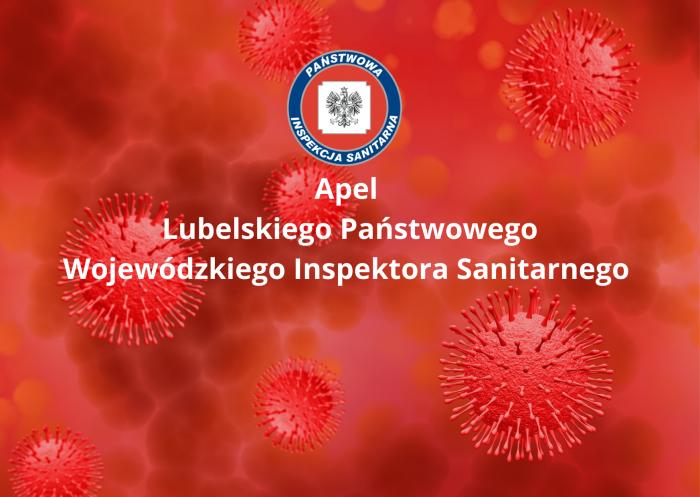 """Grafika zawiera logo Państwowej Inspekcji Sanitarnej, poniżej tekst """"Apel Państwowego Wojewódzkiego Inspektora Sanitarnego"""""""