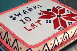 Tort z okazji Jubileuszu 10-lecia istnienia zespołu śpiewaczego Swańki z Wyryk